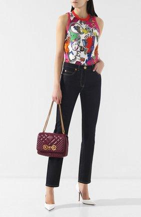 Женская сумка icon VERSACE бордового цвета, арт. DBFG478/DNATR2 | Фото 2