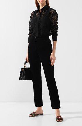 Текстильные шлепанцы Bianca Dolce & Gabbana разноцветные | Фото №2