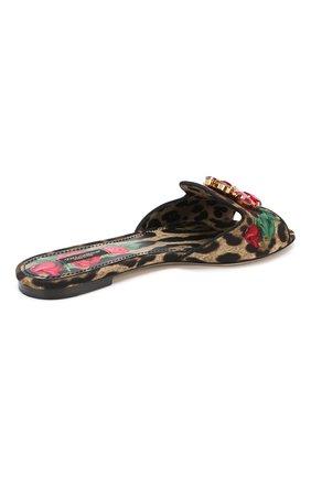 Текстильные шлепанцы Bianca Dolce & Gabbana разноцветные | Фото №4