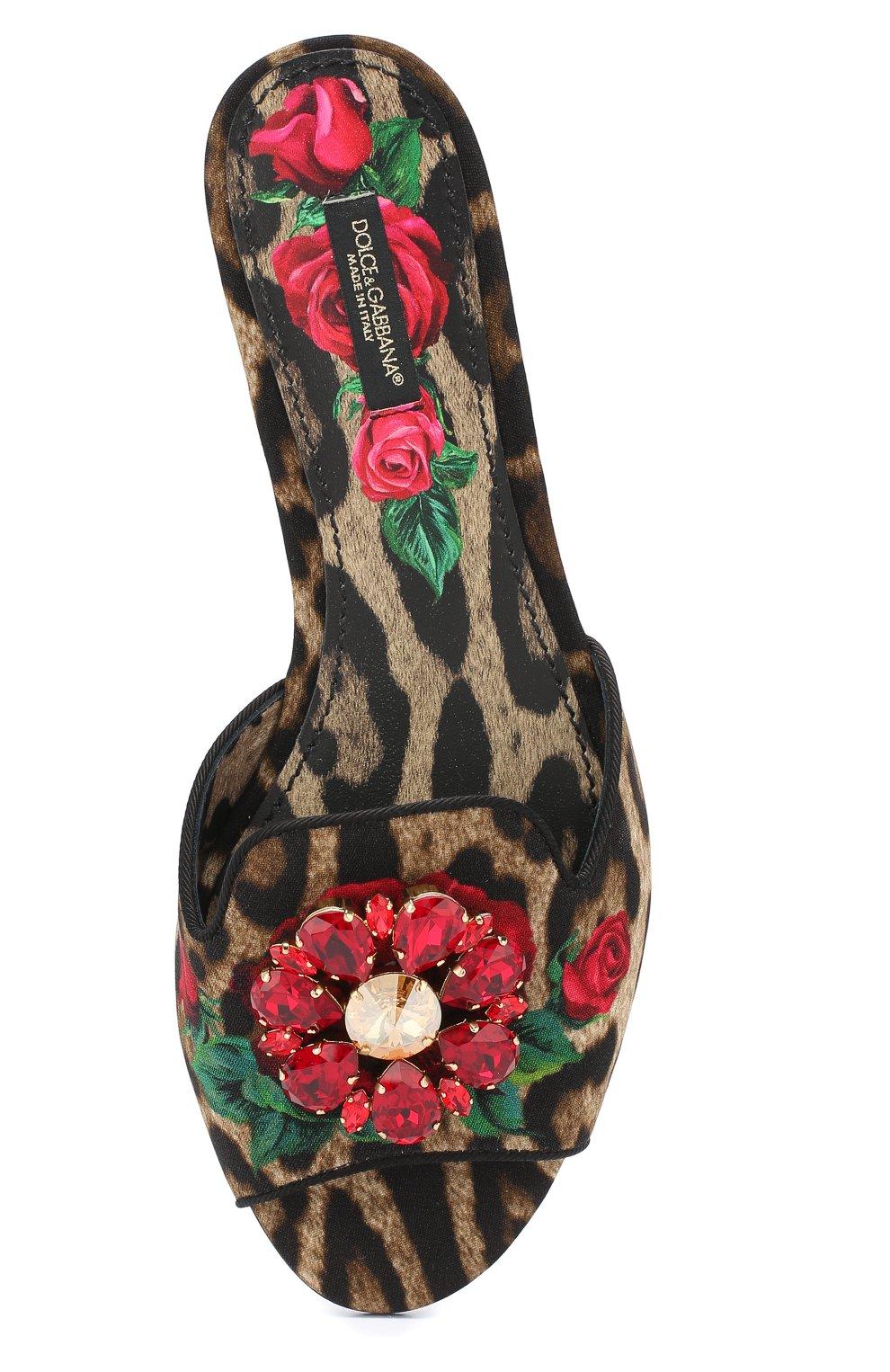 Текстильные шлепанцы Bianca Dolce & Gabbana разноцветные | Фото №5