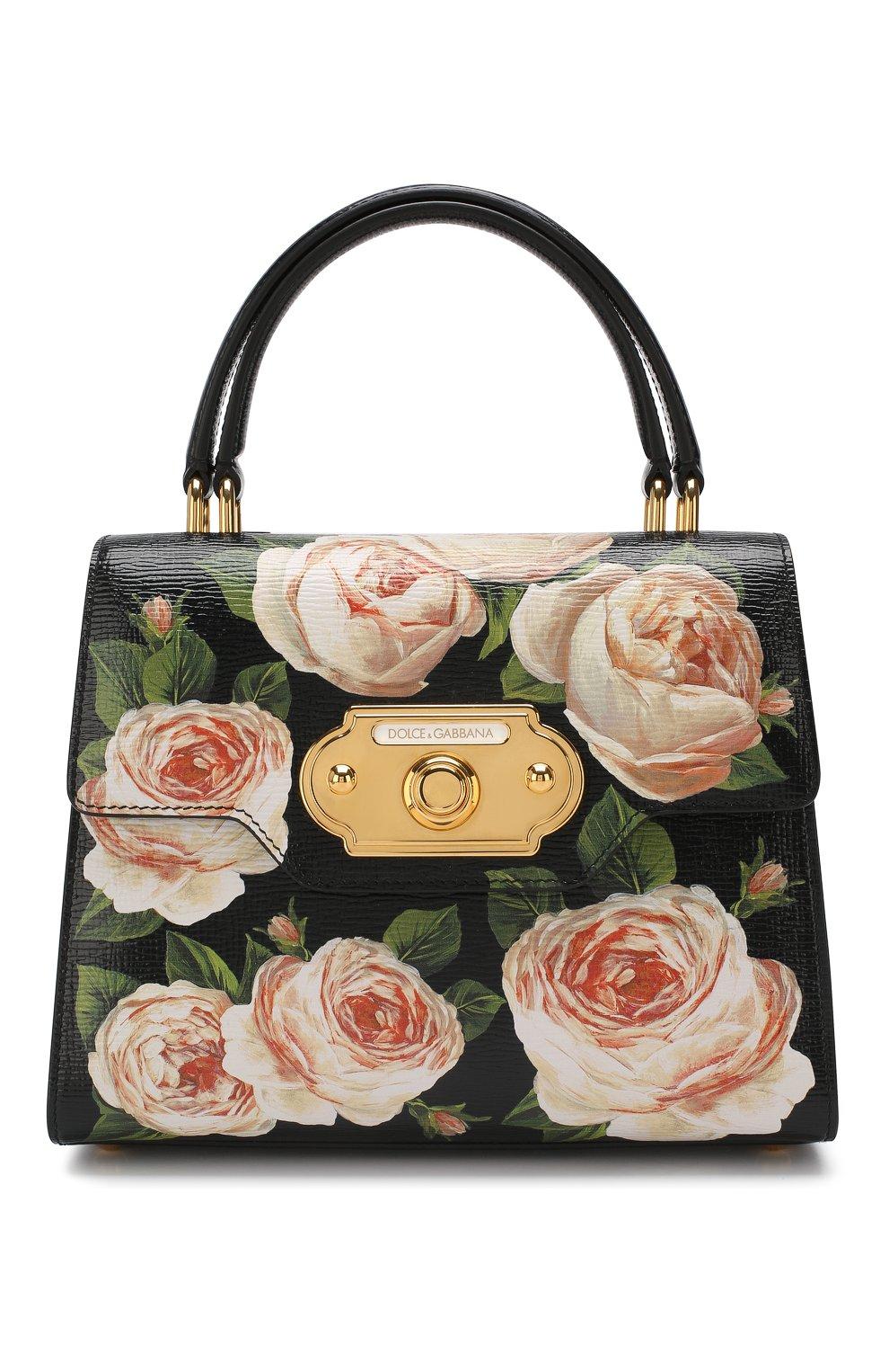 Сумка Welcome medium Dolce & Gabbana черная цвета | Фото №1
