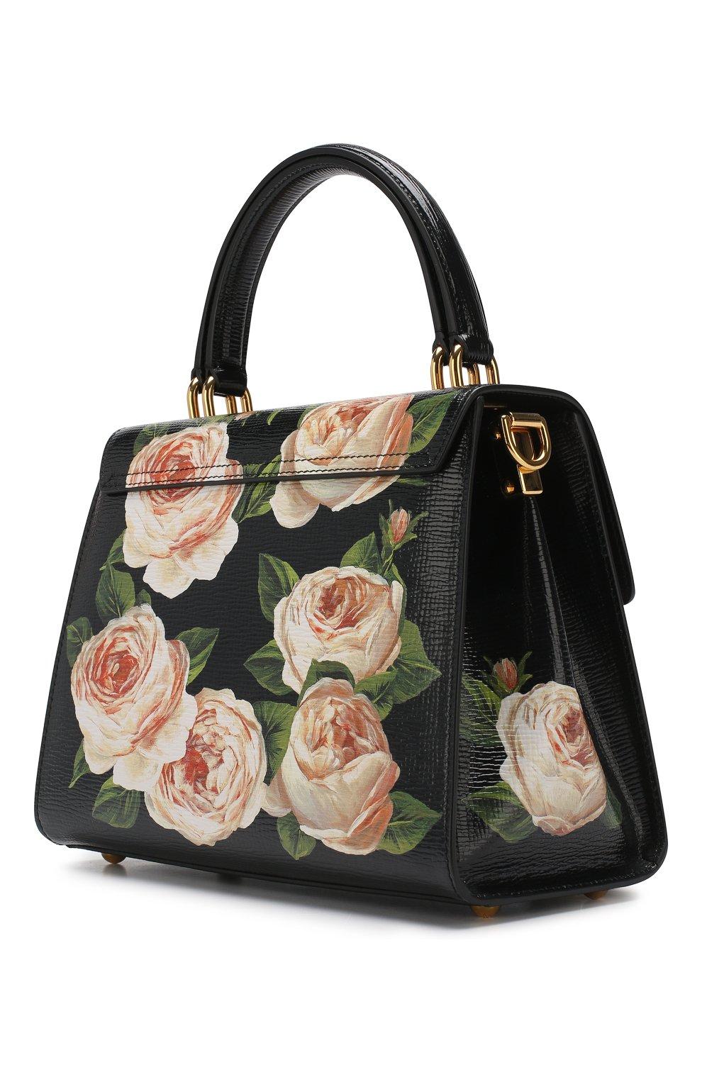 Сумка Welcome medium Dolce & Gabbana черная цвета | Фото №3
