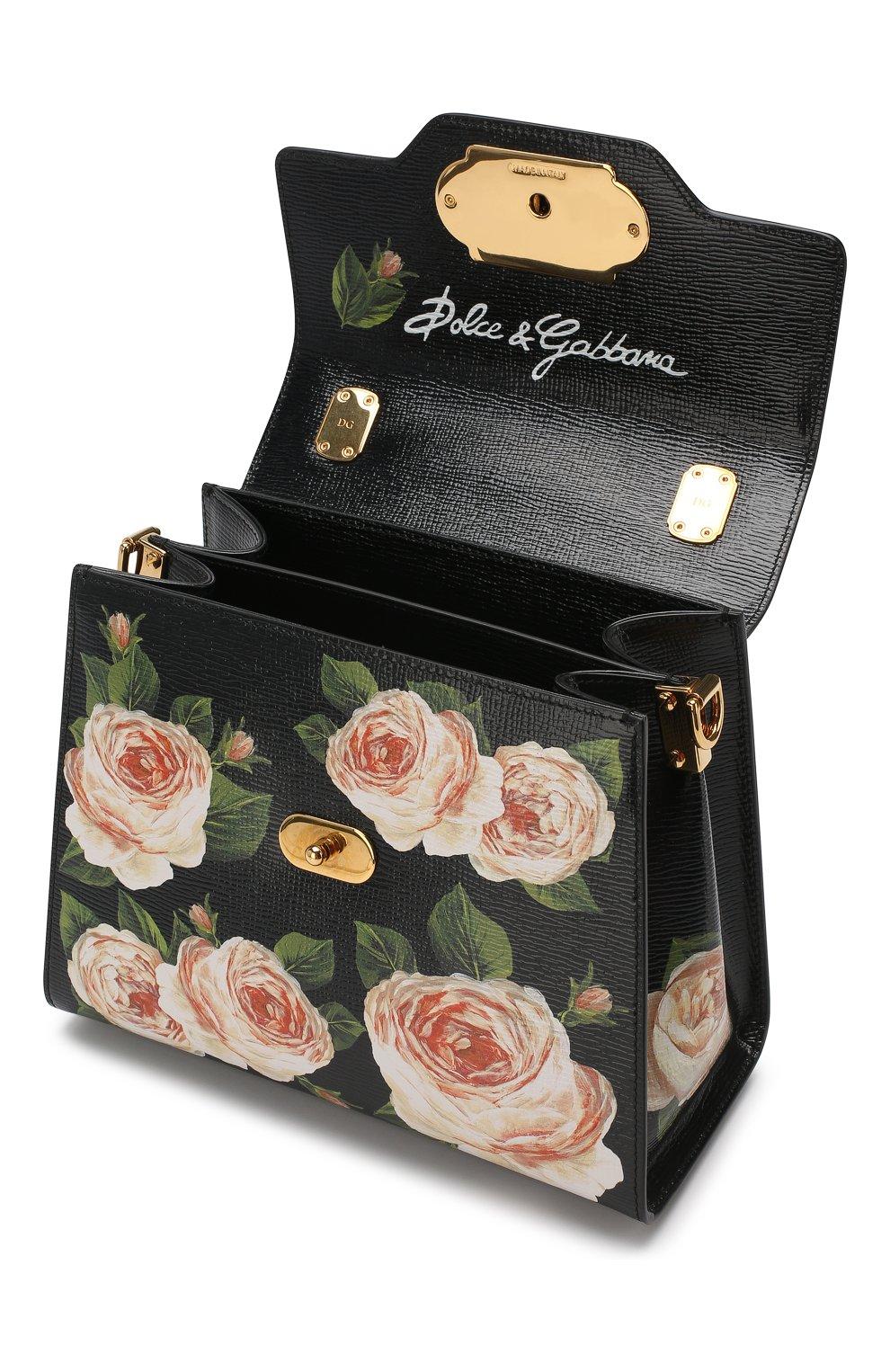 Сумка Welcome medium Dolce & Gabbana черная цвета | Фото №4