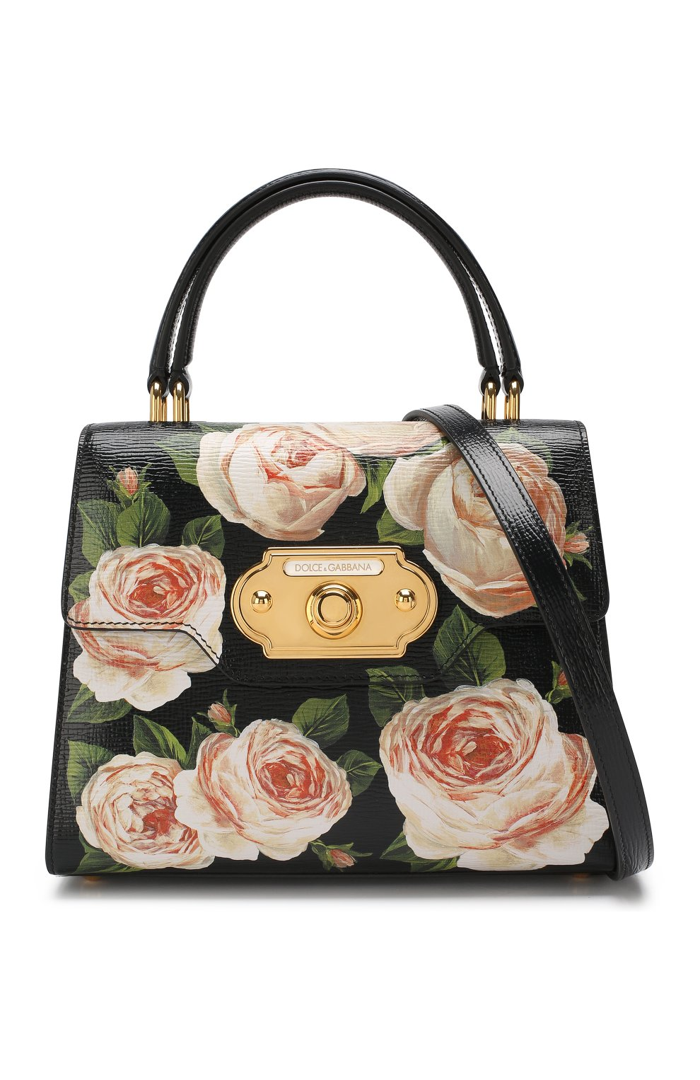 Сумка Welcome medium Dolce & Gabbana черная цвета | Фото №5