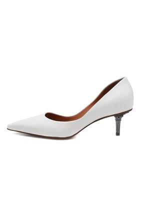 Кожаные туфли Vetements белые | Фото №3