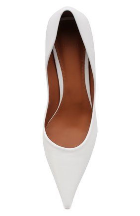Кожаные туфли Vetements белые | Фото №5