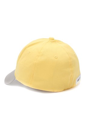 Хлопковая бейсболка Golden Goose Deluxe Brand желтого цвета | Фото №2