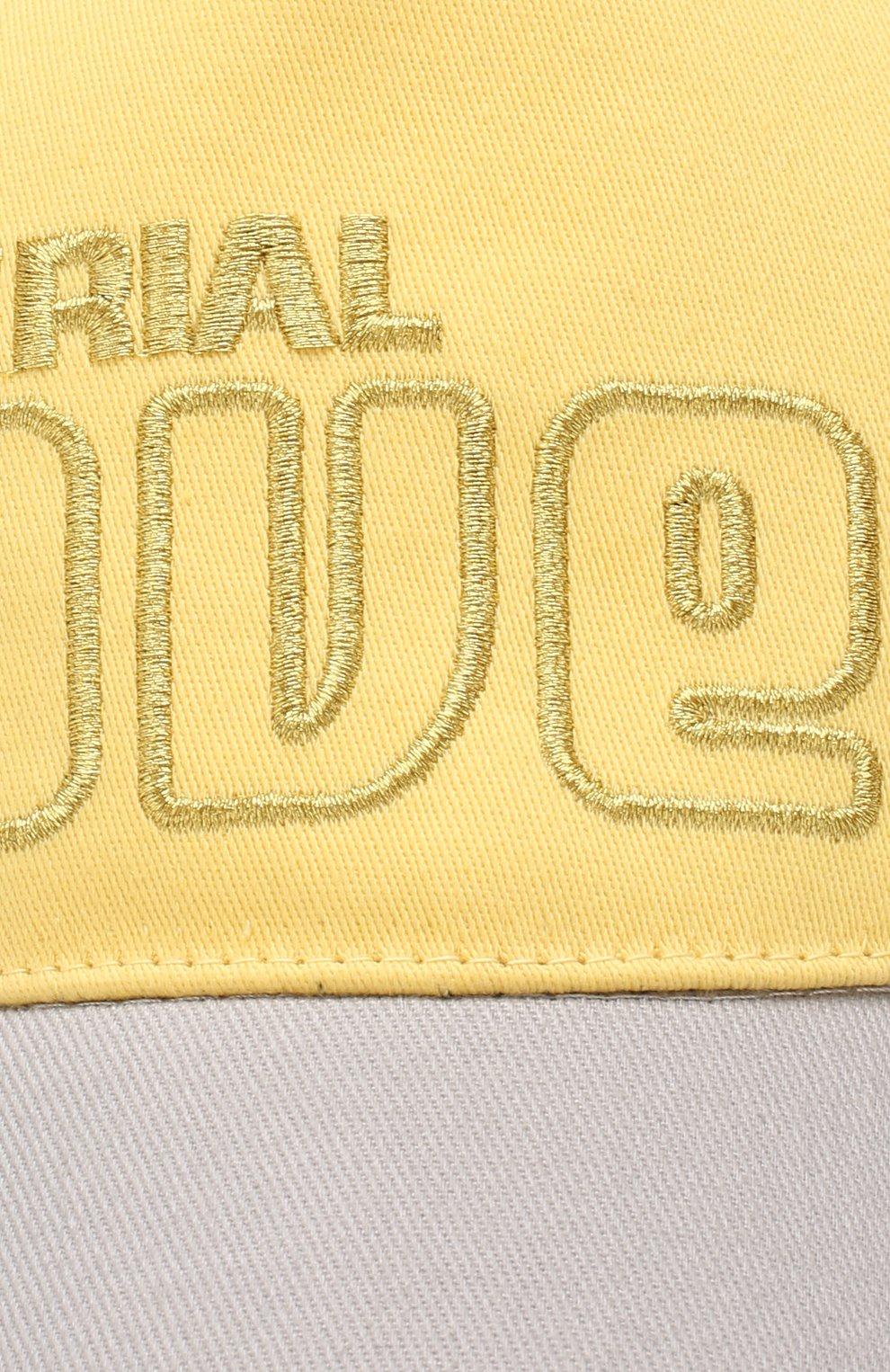 Хлопковая бейсболка Golden Goose Deluxe Brand желтого цвета | Фото №3