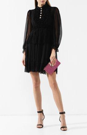 Клатч Dolce Box Dolce & Gabbana фуксия цвета | Фото №2