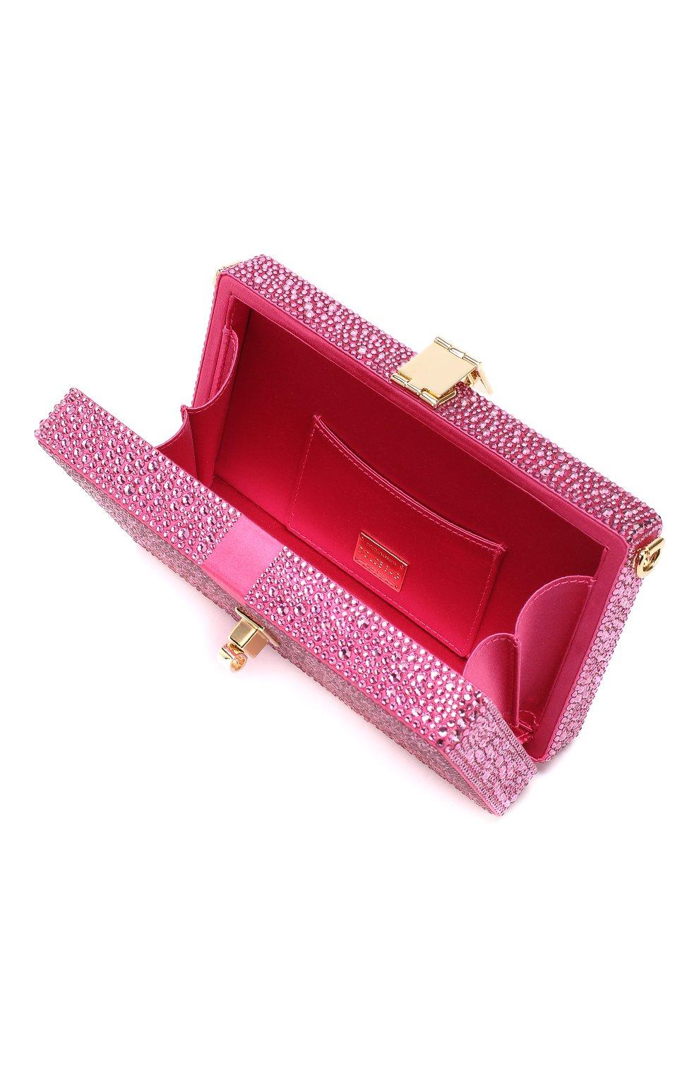 Клатч Dolce Box Dolce & Gabbana фуксия цвета | Фото №4