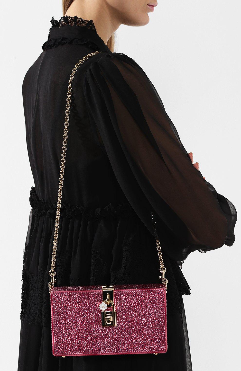 Клатч Dolce Box Dolce & Gabbana фуксия цвета | Фото №5