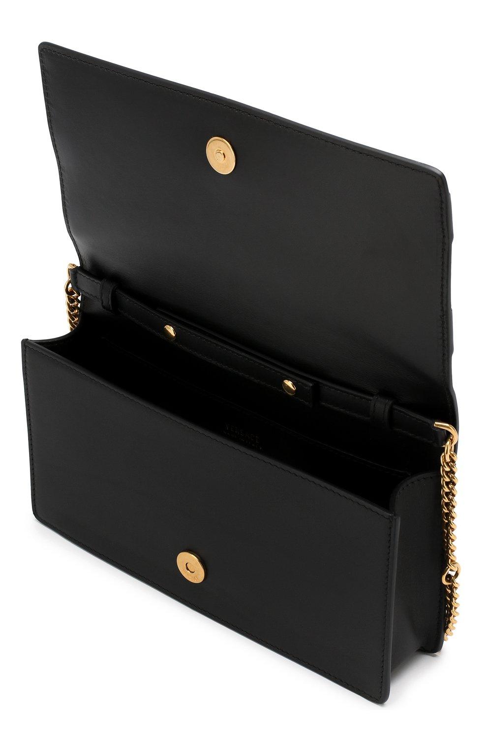 Сумка Tribute Versace черная цвета | Фото №4