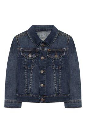 Детская джинсовая куртка POLO RALPH LAUREN синего цвета, арт. 311698662 | Фото 1