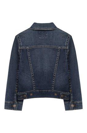 Детская джинсовая куртка POLO RALPH LAUREN синего цвета, арт. 311698662 | Фото 2
