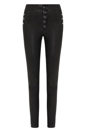 Женские кожаные брюки J BRAND черного цвета, арт. JB000314 | Фото 1