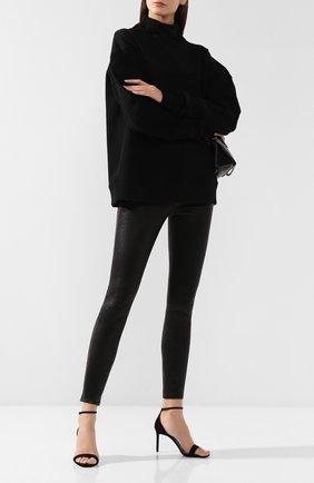 Женские кожаные брюки J BRAND черного цвета, арт. JB000314 | Фото 2