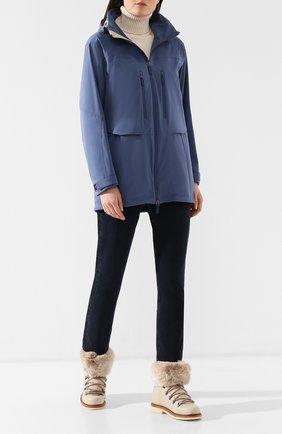 Женская куртка с капюшоном LORO PIANA голубого цвета, арт. FAF4863 | Фото 2