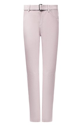 Женские кожаные брюки TOM FORD сиреневого цвета, арт. PAL647-LEX209 | Фото 1