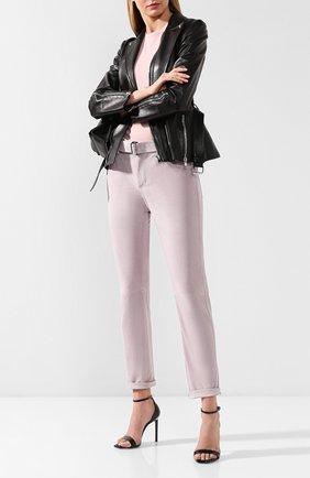 Женские кожаные брюки TOM FORD сиреневого цвета, арт. PAL647-LEX209 | Фото 2