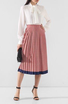 Шелковая юбка Valentino красная | Фото №2
