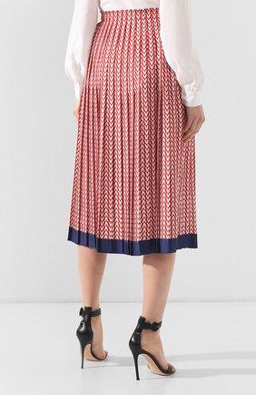 Шелковая юбка Valentino красная | Фото №4