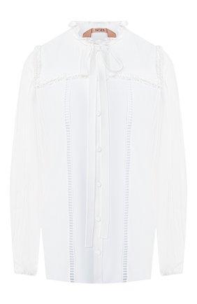 Блузка с воротником аскот | Фото №1