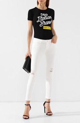 Женские джинсы с потертостями DOLCE & GABBANA белого цвета, арт. FTAH7D/G895T | Фото 2