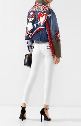 Женская джинсовая куртка DOLCE & GABBANA разноцветного цвета, арт. F9E79Z/G897R | Фото 2