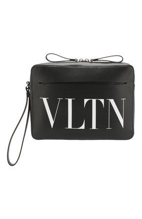 Кожаный клатч Valentino Garavani VLTN | Фото №1