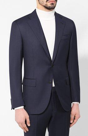 Мужской шерстяной костюм CORNELIANI темно-синего цвета, арт. 837268-9117087/92 Q1 | Фото 2