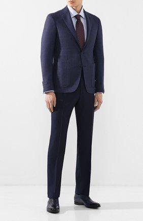 Мужской шерстяные брюки CORNELIANI синего цвета, арт. 835263-9118150/02   Фото 2