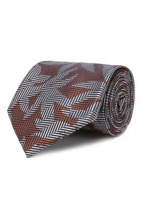 Мужской шелковый галстук GIORGIO ARMANI разноцветного цвета, арт. 360054/9P936 | Фото 1