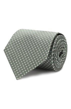 Мужской шелковый галстук GIORGIO ARMANI зеленого цвета, арт. 360054/9P931 | Фото 1