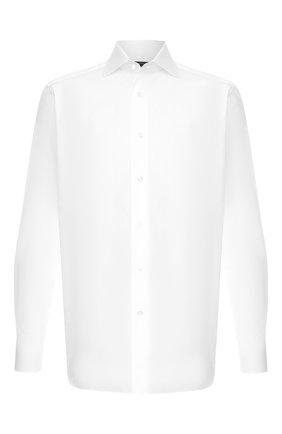 Мужская хлопковая сорочка с воротником кент ZEGNA COUTURE белого цвета, арт. 502028/9NS0RI | Фото 1