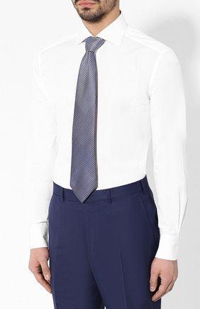 Мужская хлопковая сорочка с воротником кент ZEGNA COUTURE белого цвета, арт. 502028/9NS0RI | Фото 4
