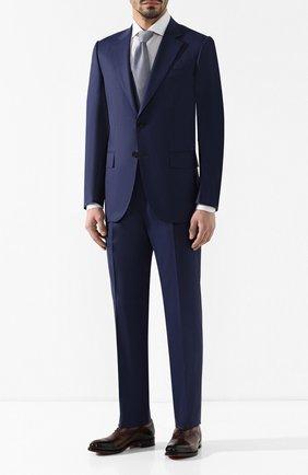 Мужской шерстяной костюм ZEGNA COUTURE синего цвета, арт. 532N23/21L2N5 | Фото 1