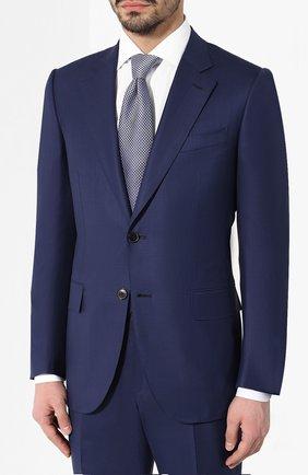 Мужской шерстяной костюм ZEGNA COUTURE синего цвета, арт. 532N23/21L2N5 | Фото 2
