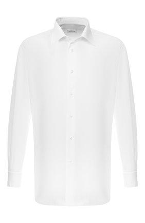Мужская хлопковая рубашка с воротником кент BRIONI белого цвета, арт. RCL8CF/PZ034 | Фото 1