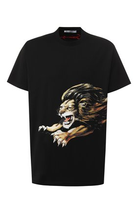 Мужская хлопковая футболка  GIVENCHY черного цвета, арт. BM70ED3002 | Фото 1