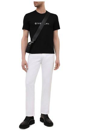 Мужская хлопковая футболка GIVENCHY черного цвета, арт. BM70K93002 | Фото 2 (Материал внешний: Хлопок; Статус проверки: Проверено; Мужское Кросс-КТ: Футболка-одежда; Вырез: Круглый; Длина (для топов): Стандартные; Рукава: Короткие; Стили: Кэжуэл)