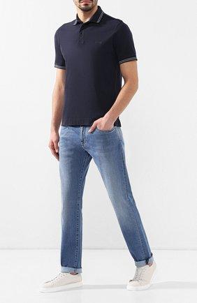 Мужские кожаные кеды  H`D`S`N BARACCO белого цвета, арт. BRYAN.9*   Фото 2