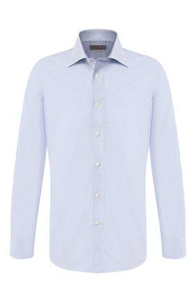 Мужская хлопковая сорочка с воротником кент CANALI светло-голубого цвета, арт. NX05/GR01593/S | Фото 1