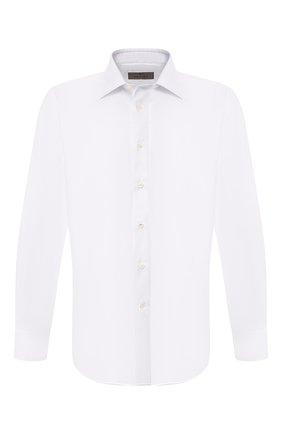 Мужская хлопковая сорочка с воротником кент CANALI белого цвета, арт. 705/GA00327/S | Фото 1