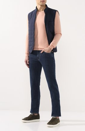 Мужские джинсы CANALI темно-синего цвета, арт. 91700R/PD00018 | Фото 2