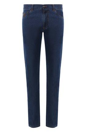 Мужские джинсы прямого кроя CANALI темно-синего цвета, арт. 91700R/PD00019 | Фото 1