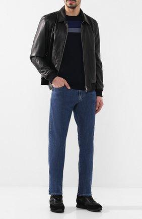 Мужские джинсы прямого кроя CANALI синего цвета, арт. 91700R/PD00400 | Фото 2