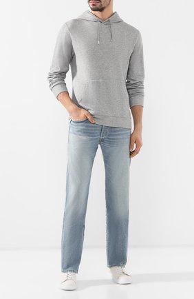 Мужские джинсы прямого кроя RRL голубого цвета, арт. 782504836 | Фото 2 (Длина (брюки, джинсы): Стандартные; Материал внешний: Хлопок; Статус проверки: Проверено; Силуэт М (брюки): Прямые)