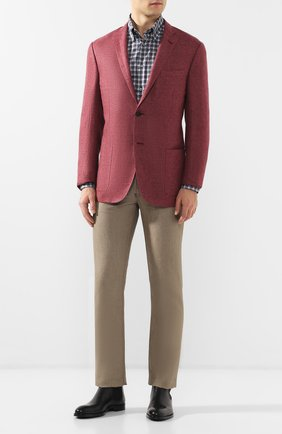 Мужская хлопковая рубашка с воротником кент BRIONI серого цвета, арт. SCAD0L/P8049 | Фото 2