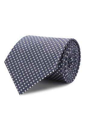Мужской шелковый галстук GIORGIO ARMANI синего цвета, арт. 360054/9P931 | Фото 1