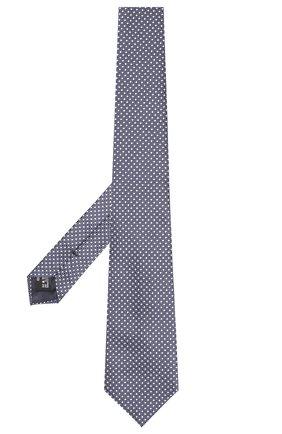 Мужской шелковый галстук GIORGIO ARMANI синего цвета, арт. 360054/9P931 | Фото 2